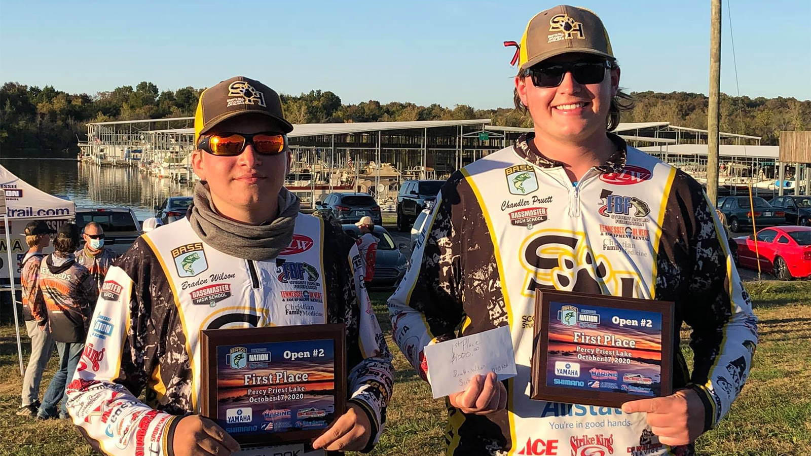 Scott Hills' Braden Wilson and Chandler Pruitt win 2020-21 event on Percy Priest with 9.55 lbs.